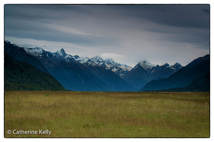 Southern Alps in New Zealand, on the road to Milford Sound