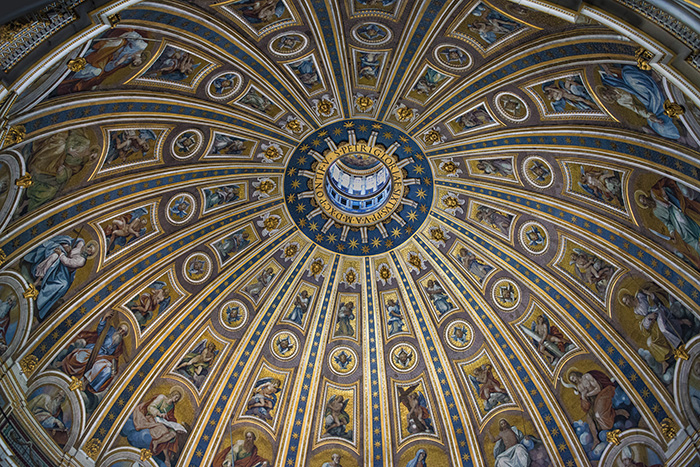 Exquisite interior of St. Peter's Dome.