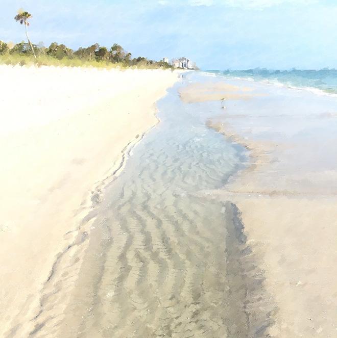 #florida, #Naples, #leadinglines, #beach, #horizon, #softcolors, #painting, #iphone, #palm, #symmetry