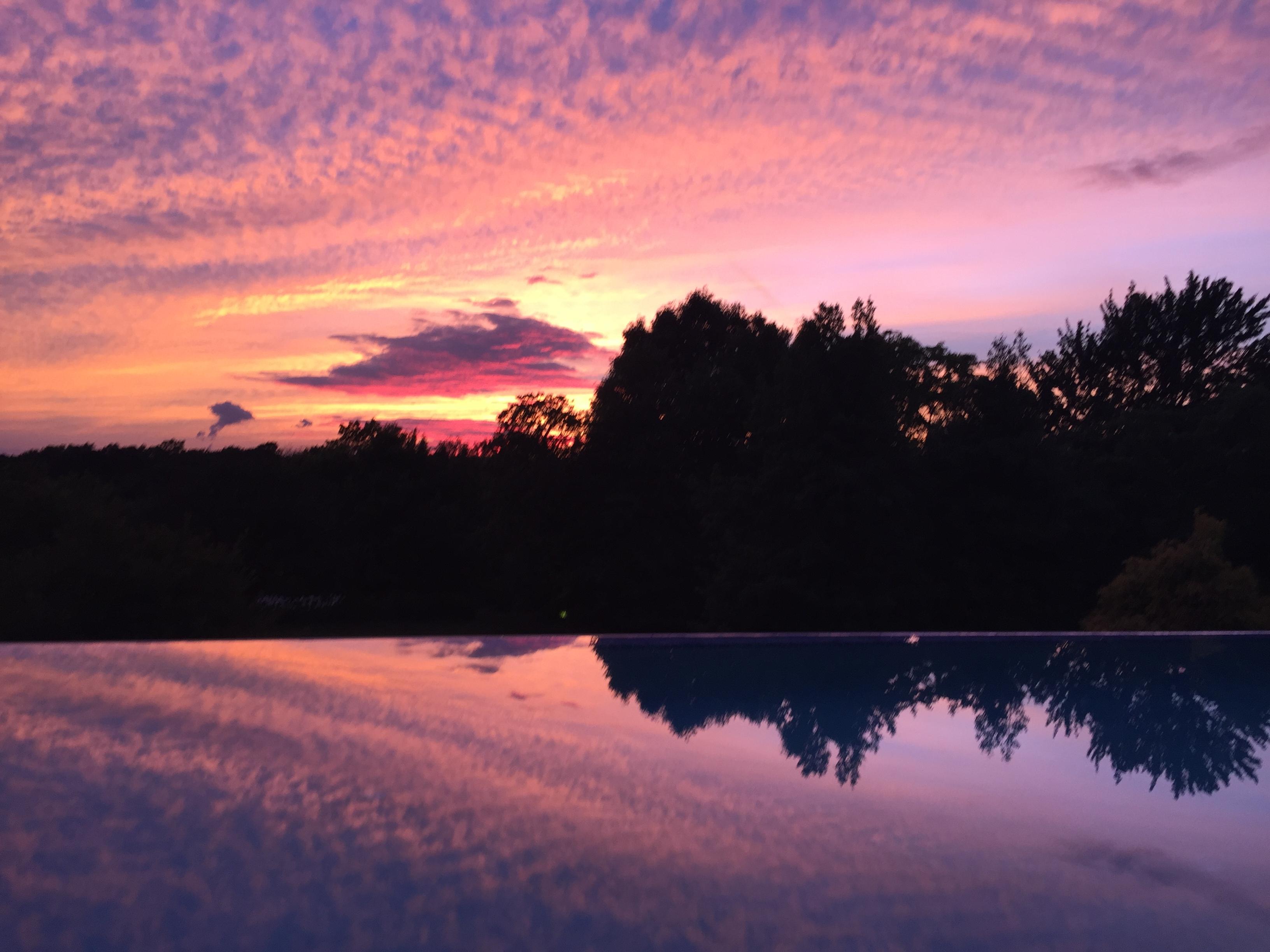 #july4, #sunset, #sky, #reflection, #color