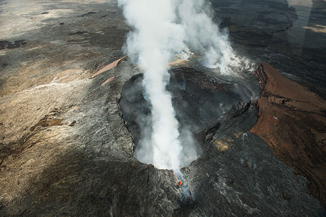 #volcano, #kilauea, #steam, #erupting, #lava, #hawaii, #nature, #aerial, #helicopter