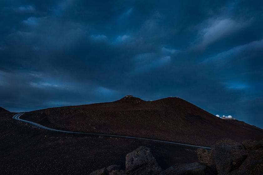 #haleakala, #maui, #hawaii, #sunrise, #observatory, #road, #ribbon, #sky