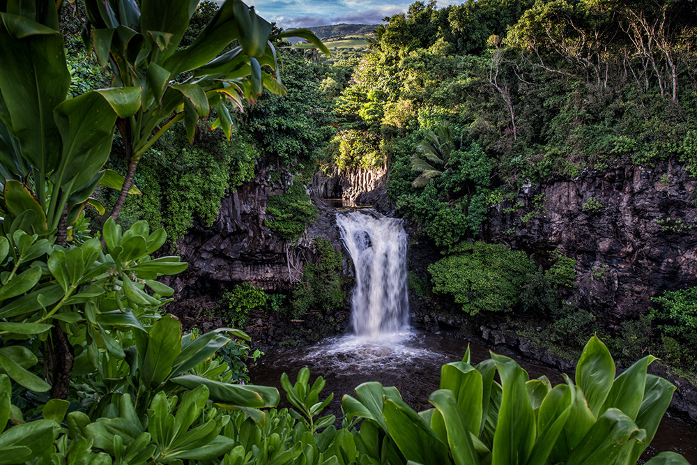 #waterfall, #maui, #hawaii, #tropical, #tropics, #landscape, #nature, #nikon, #reallyrightstuff