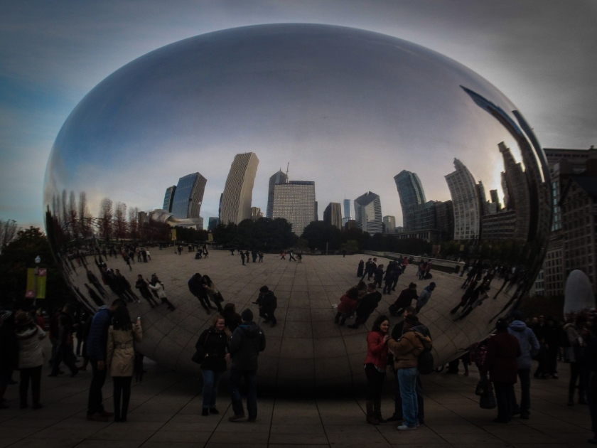 #chicago, #bean, #cloudgate, #milleniumpark, #theloop, #sculpture, #skyline, #streetphotography