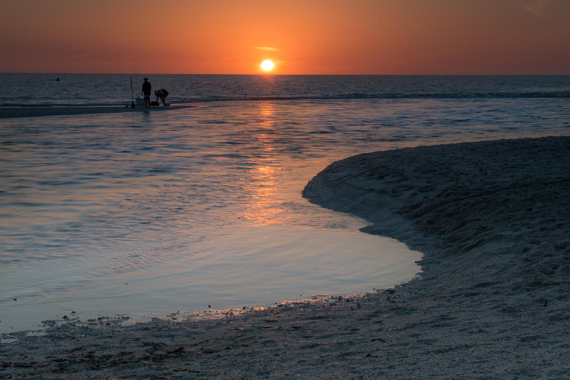 #sunset, #fishermen, #orange, #naples, #florida, #pelicanbay, #peaceful, #orangeandblue
