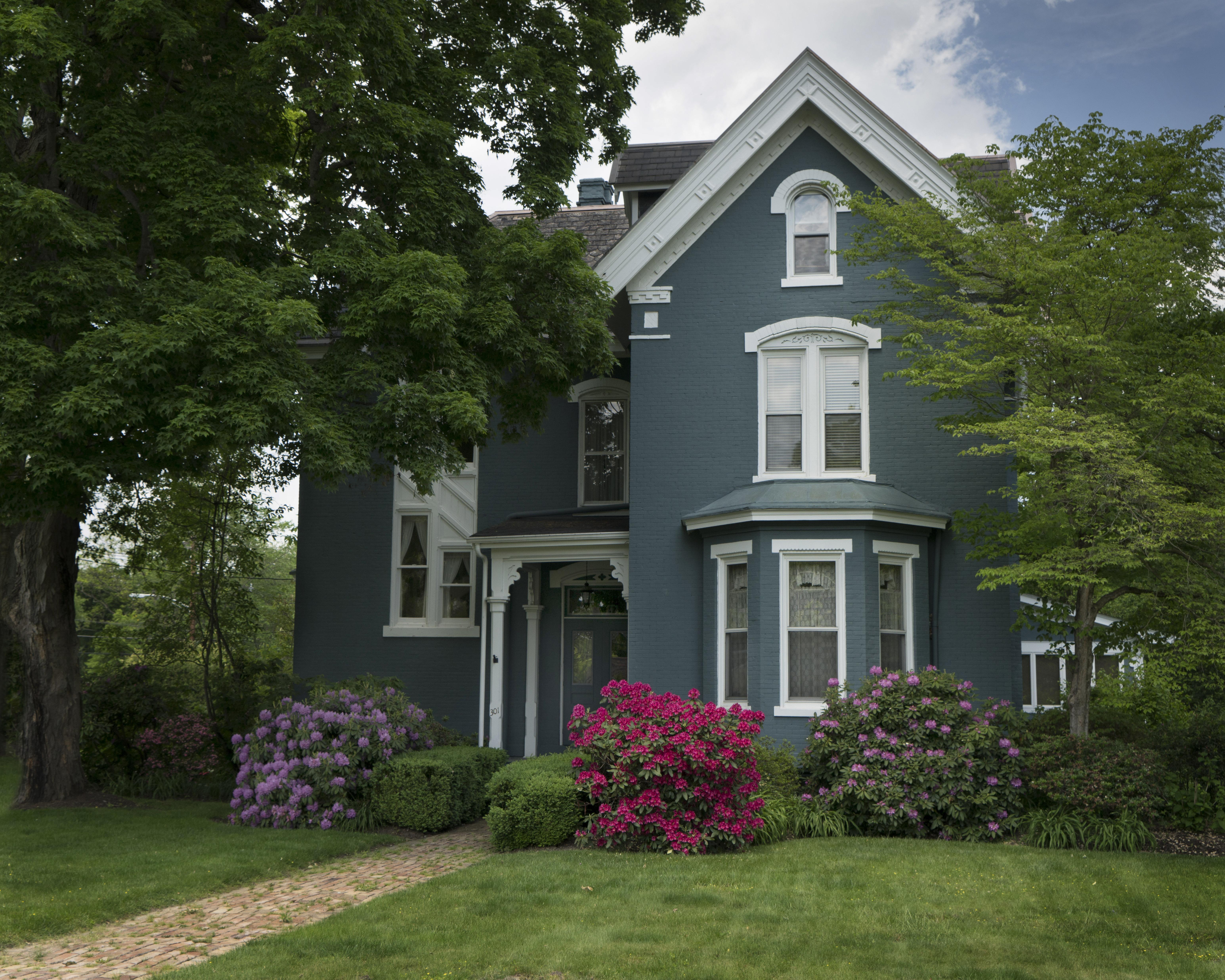 #house, #spring, #rhododendron, #rhody, #victorian, #pennsylvania, #sewickley