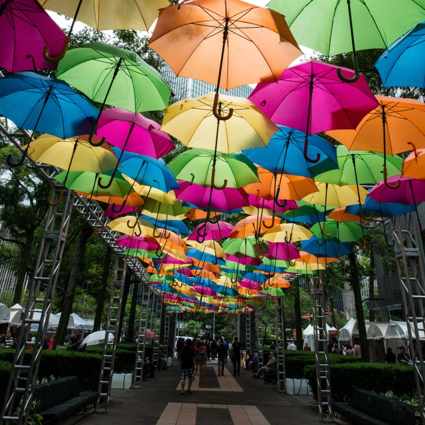 #Pittsburgh, #artsfestival, #streetart, #rain, #June, #umbrellas, #makelemonade