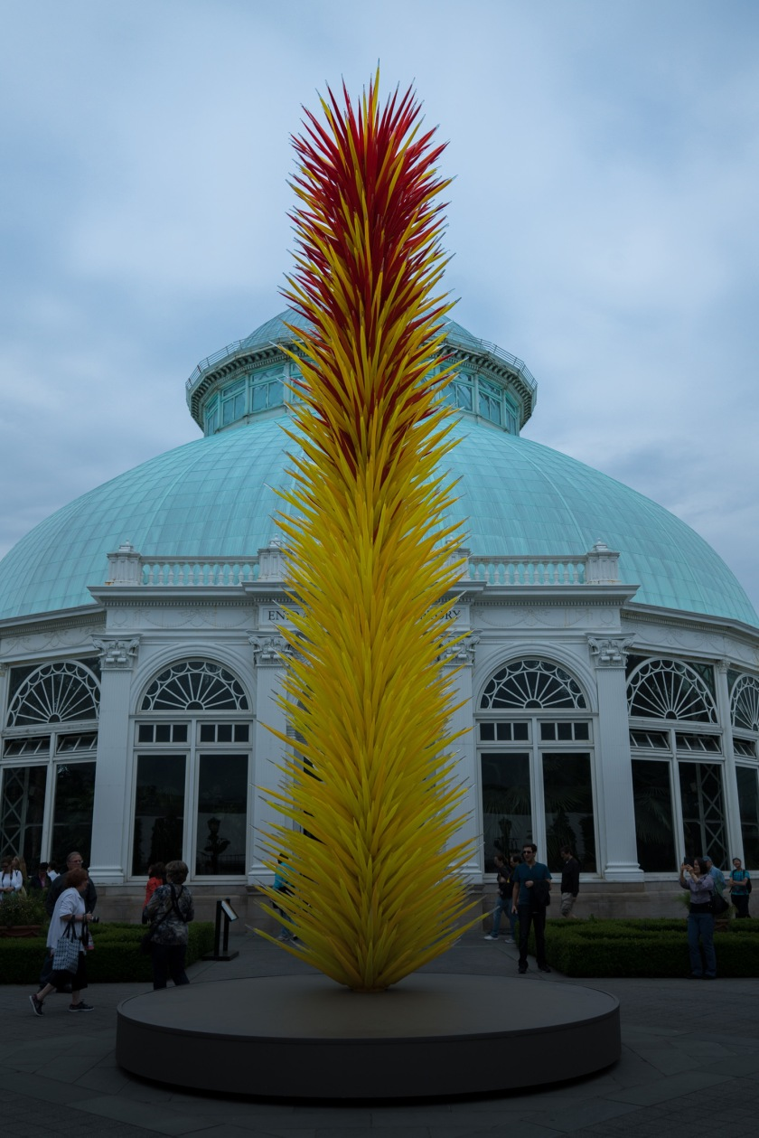 #NYBG, #chihuly, #tower, #yellow, #red, #tower, #nature, #art