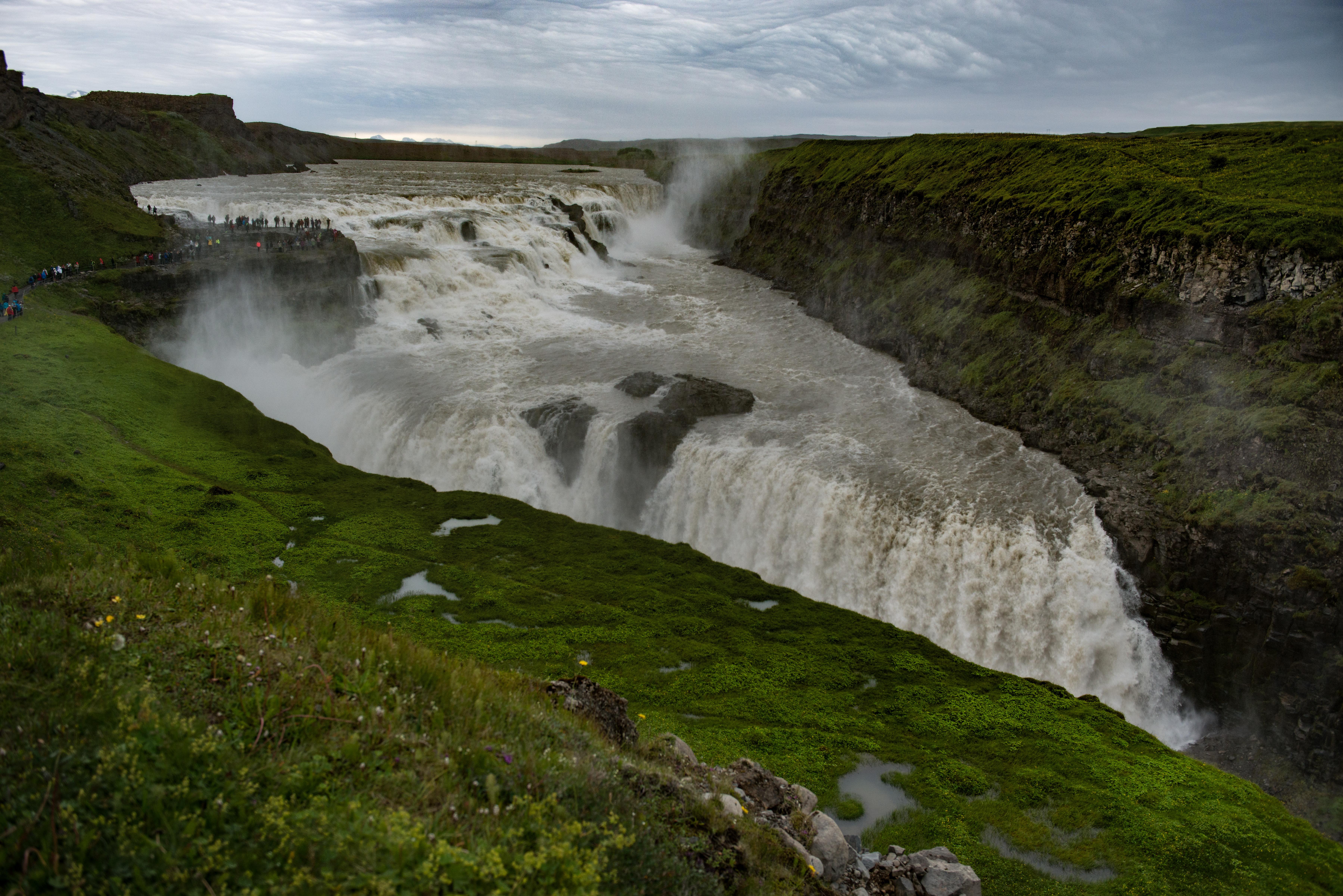 #gullfoss, #safety, #waterfall, #iceland, #hvita, #tourism, #powerful, #nature