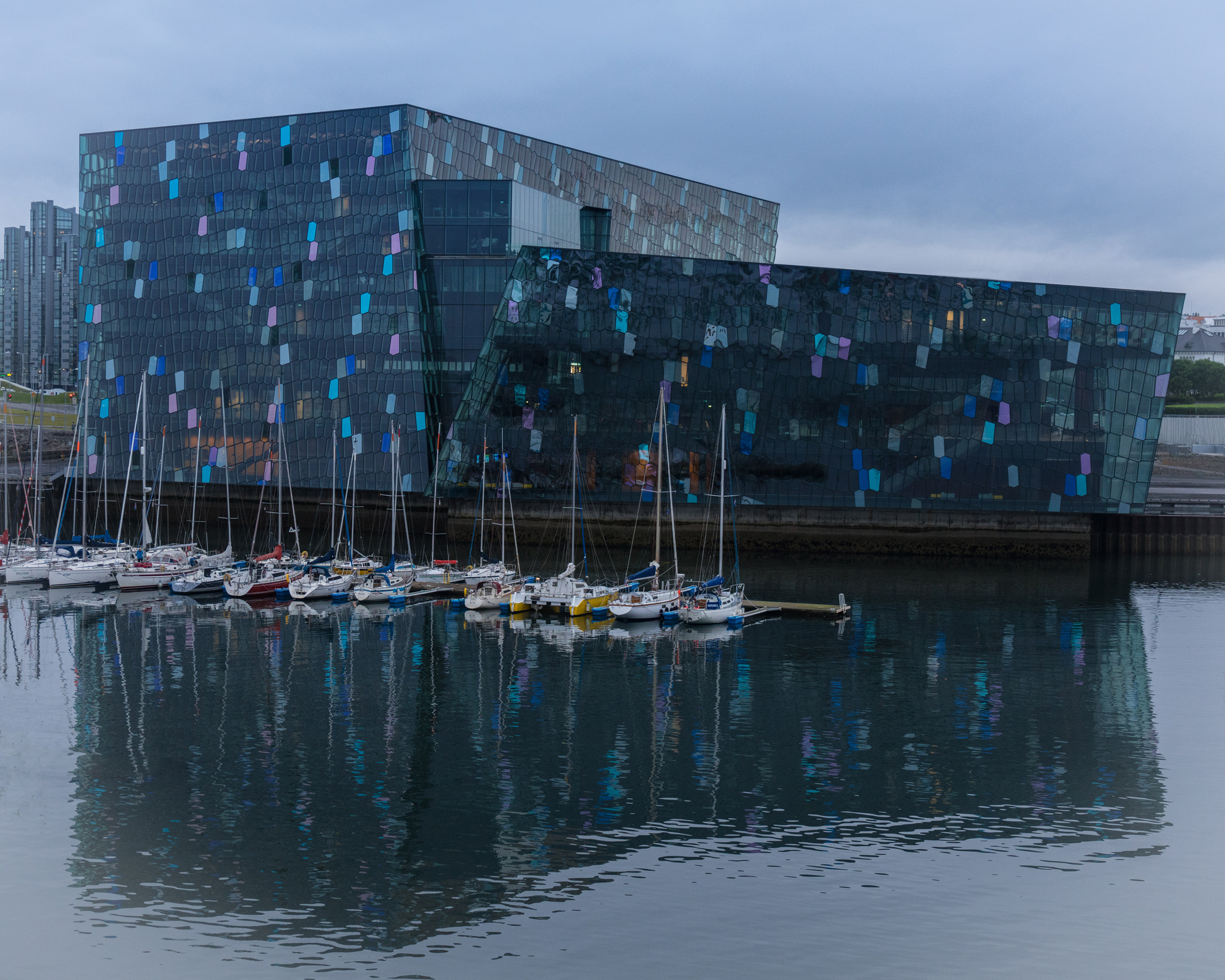 #harpa, #reykjavik, #iceland, #architecture, #harbor, #music, #july, #windstar