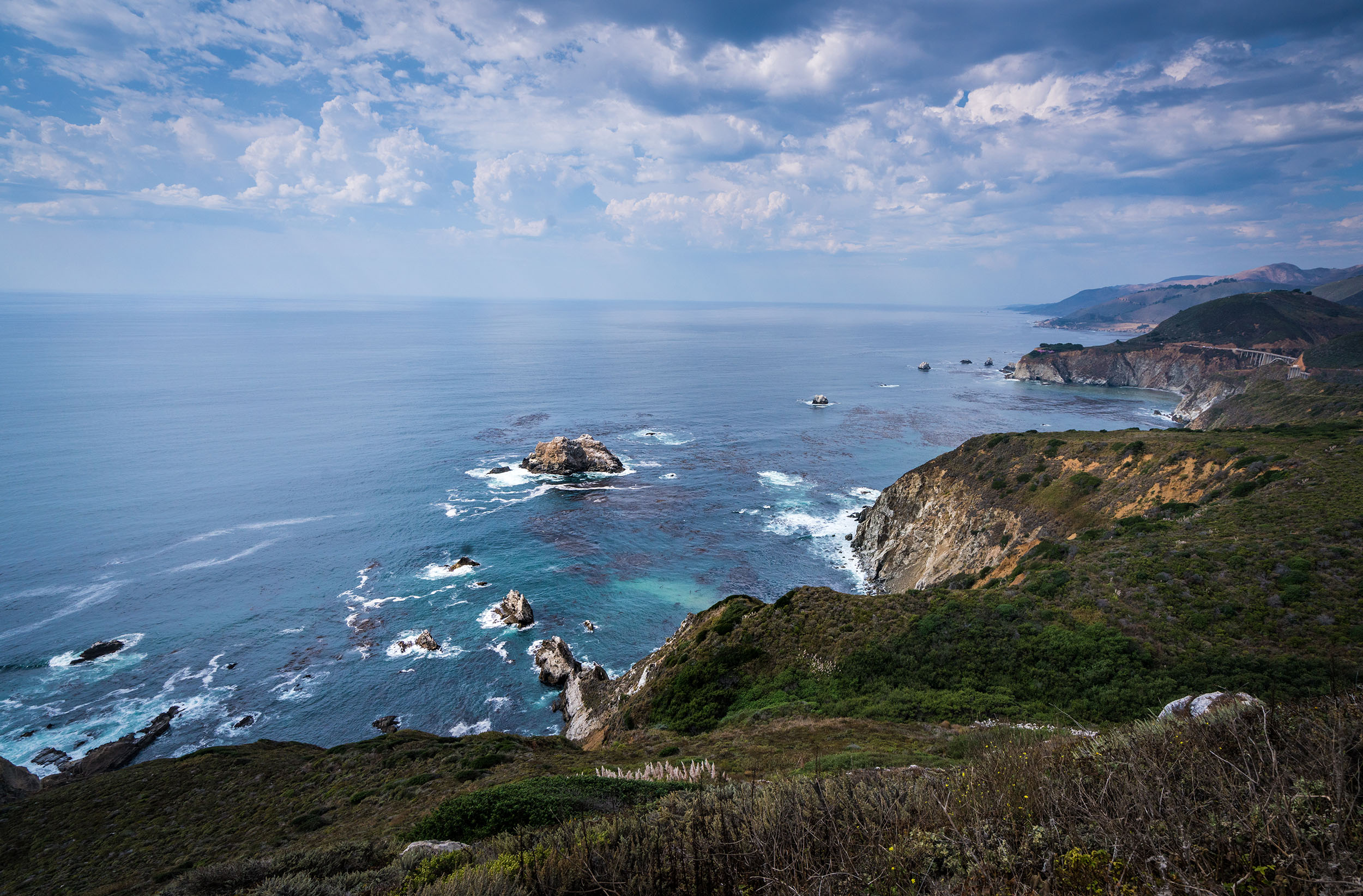 #bigsur, #hurricanepoint, #boulders, #granite, #rocks, #surf, #clouds, #coastline, #pacific, #california, #monterey, #sony, #wideangle