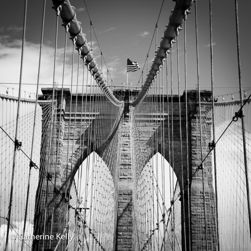 #brooklynbridge, #newyorkcity, #thingstodo, #visitNYC, #newyork, #flag, #bridge, #NYC, #nikon, #blackandwhite, #bw