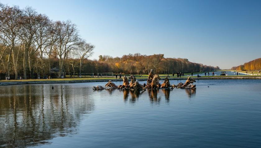 #versailles, #Paris, #daytrip, #gardens, #walk, #November, #water, #season, #fountain, #bike