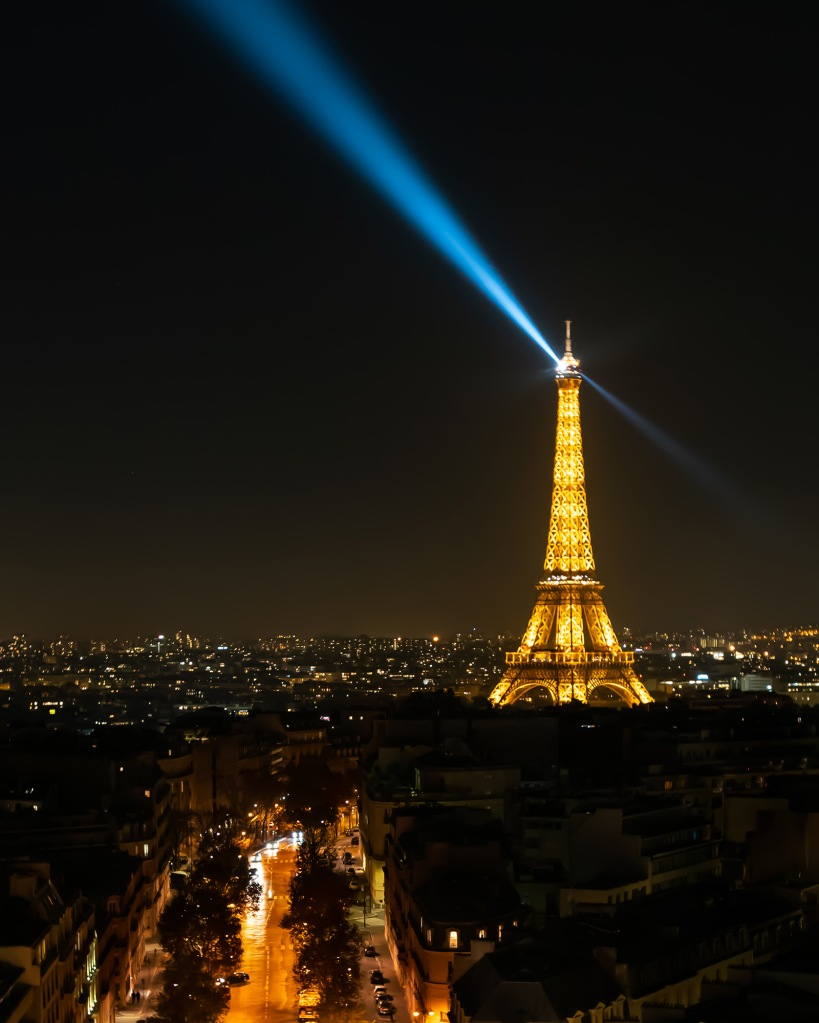 #paris, #toureiffel, #eiffeltower, #eiffel, #night, #light, #cityoflight, #peace, #peaceful, #beacon, #arcdetriomphe, #arc, #violence