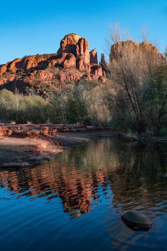 #cathedralrock, #redrock, #sedona, #reflection, #redrockcrossing, #oakcreek