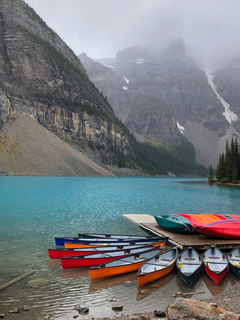 #morainelake, #moraine, #alberta, #canada, #canadianrockies, #canoes, #color, #colour, #colorwheel, #composition, #photography, #nationalparks, #favorite